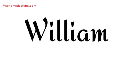 Calligraphic Stylish Name Tattoo Designs William Download Free