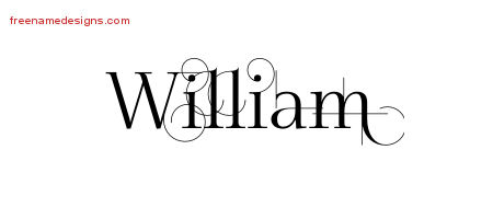 Decorated Name Tattoo Designs William Free Lettering
