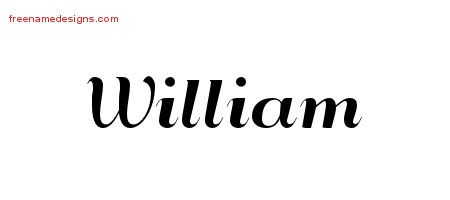 Art Deco Name Tattoo Designs William Printable