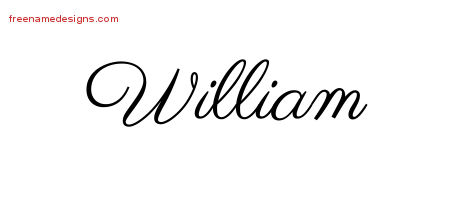Classic Name Tattoo Designs William Printable