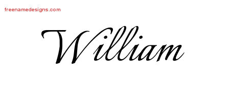 Calligraphic Name Tattoo Designs William Free Graphic