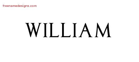 Regal Victorian Name Tattoo Designs William Graphic Download