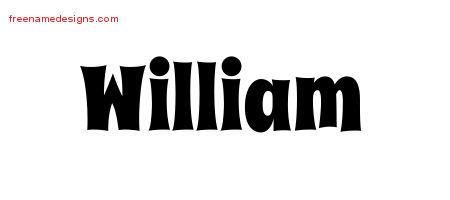 Groovy Name Tattoo Designs William Free Lettering