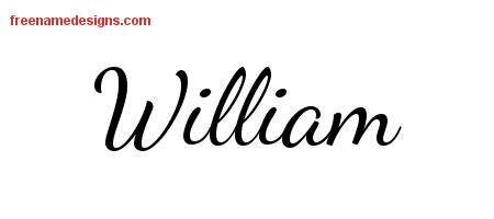Lively Script Name Tattoo Designs William Free Download