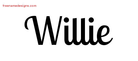 Handwritten Name Tattoo Designs Willie Free Printout