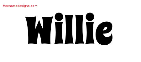 Groovy Name Tattoo Designs Willie Free Lettering