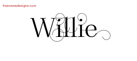 Decorated Name Tattoo Designs Willie Free Lettering