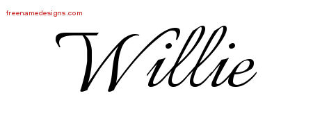 Calligraphic Name Tattoo Designs Willie Download Free
