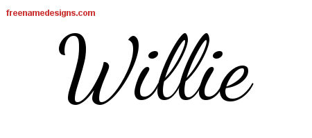 Lively Script Name Tattoo Designs Willie Free Printout