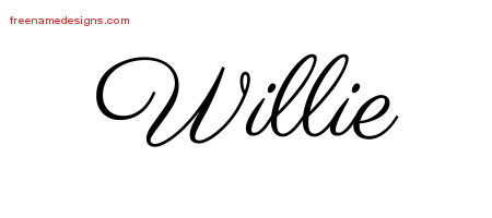 Classic Name Tattoo Designs Willie Printable