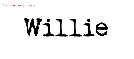 Vintage Writer Name Tattoo Designs Willie Free