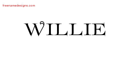 Flourishes Name Tattoo Designs Willie Graphic Download