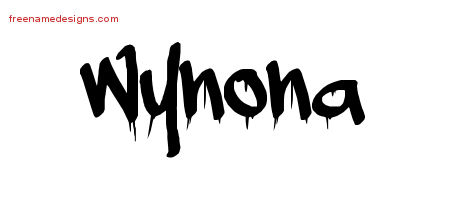 Graffiti Name Tattoo Designs Wynona Free Lettering