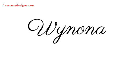 Classic Name Tattoo Designs Wynona Graphic Download