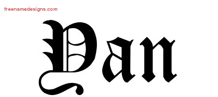 Blackletter Name Tattoo Designs Yan Graphic Download