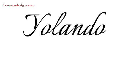 Calligraphic Name Tattoo Designs Yolando Download Free