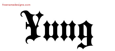 Old English Name Tattoo Designs Yung Free