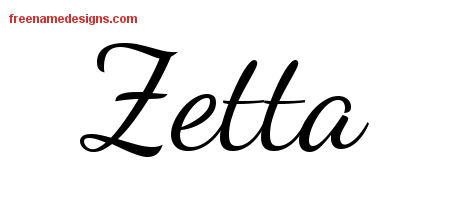 Lively Script Name Tattoo Designs Zetta Free Printout