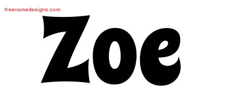 Zoe Archives Free Name Designs